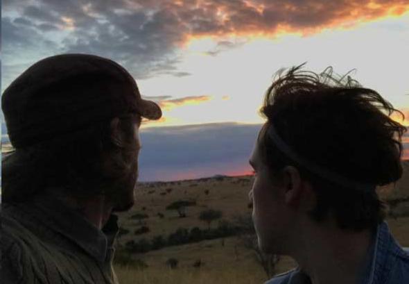 david beckham on safari